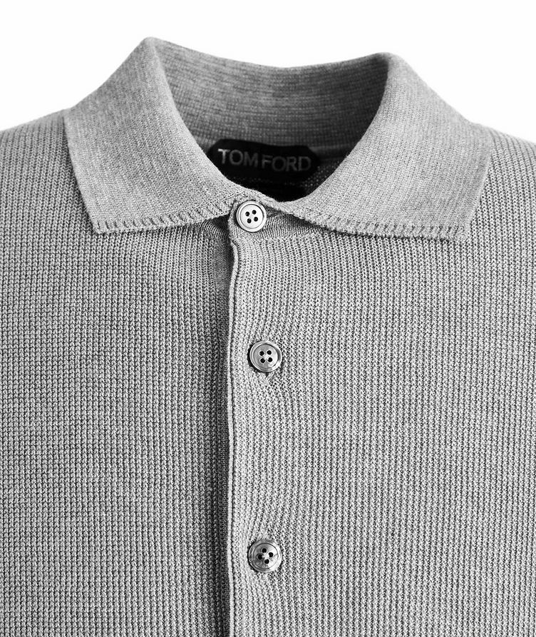 Cotton-Silk Knit Polo image 1