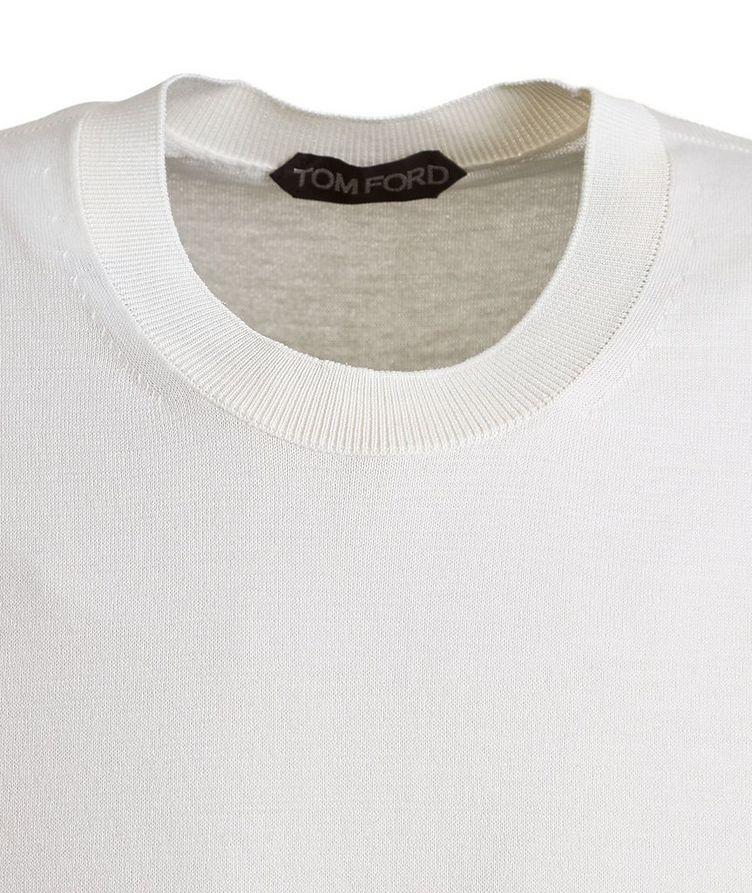 Silk-Cotton Knit T-Shirt image 1
