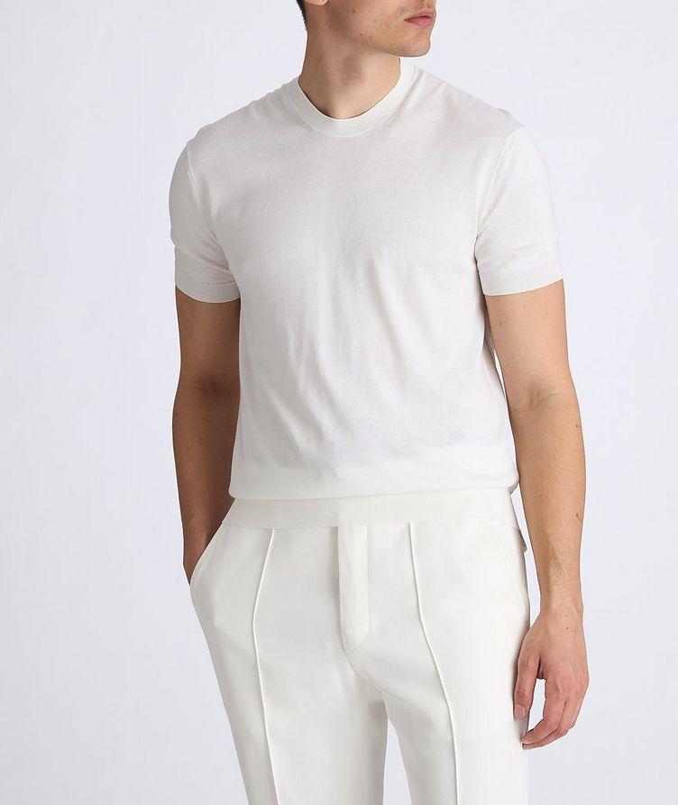 Silk-Cotton Knit T-Shirt image 3