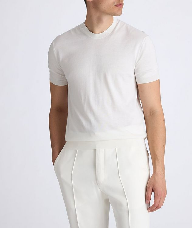 Silk-Cotton Knit T-Shirt picture 4