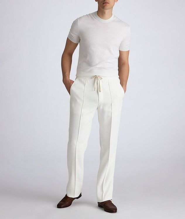 Silk-Cotton Knit T-Shirt picture 5