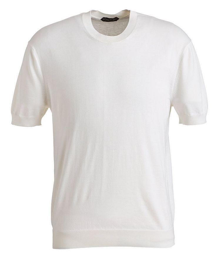 Silk-Cotton Knit T-Shirt image 0