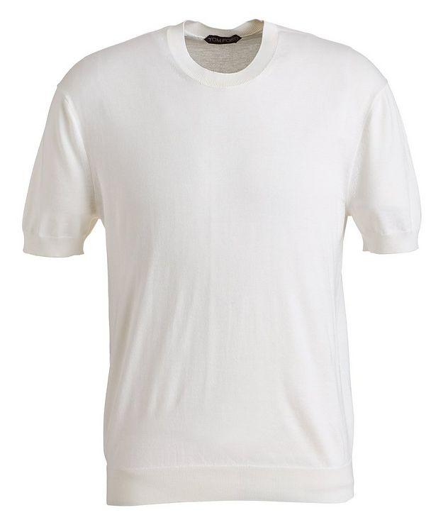 Silk-Cotton Knit T-Shirt picture 1