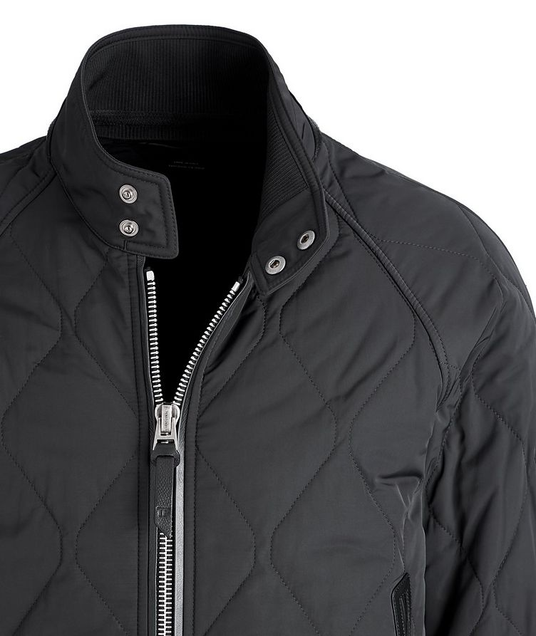 Quilted Bomber Jacket image 2
