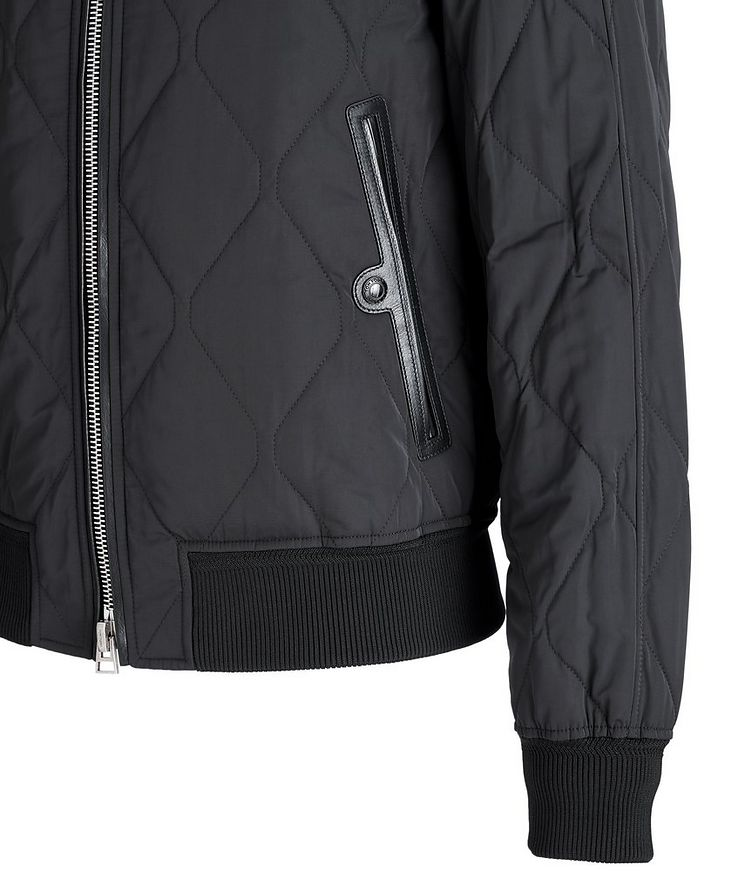 Quilted Bomber Jacket image 3