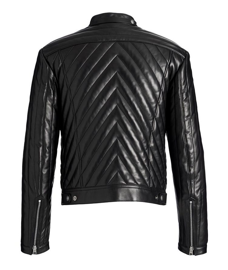 Quilted Lambskin Biker Jacket image 1