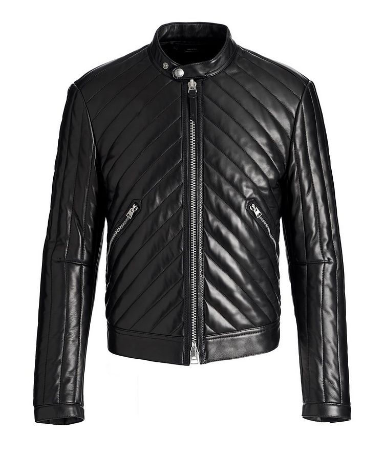 Quilted Lambskin Biker Jacket image 0