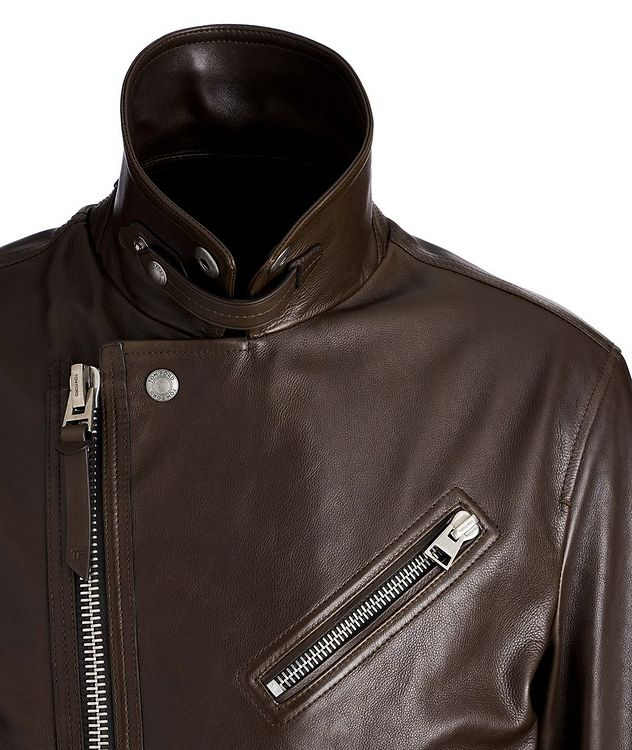 Calfskin Biker Jacket picture 3