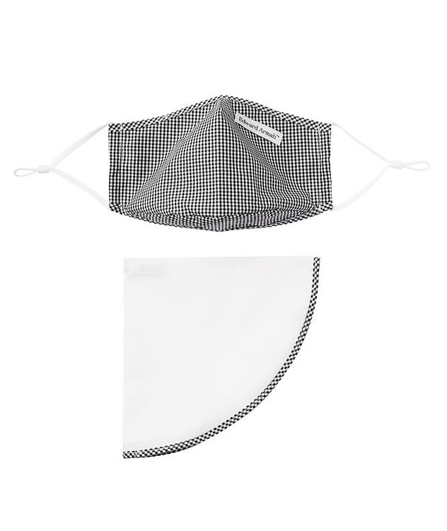 Gingham Face Mask and Pocket Square Set picture 1