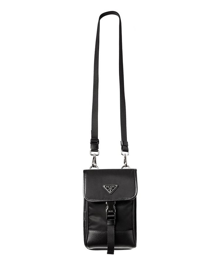 Nylon & Saffiano Leather Smart Phone Carrier image 0