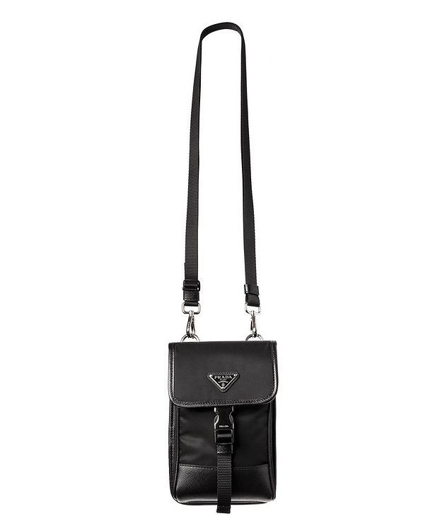 Nylon & Saffiano Leather Smart Phone Carrier picture 1