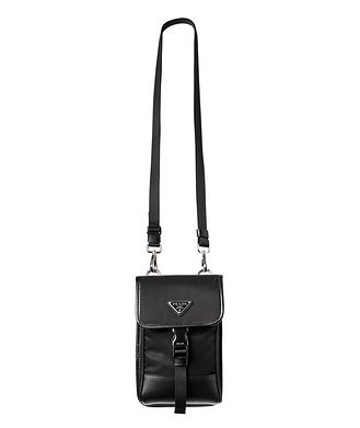Prada Nylon & Saffiano Leather Smart Phone Carrier