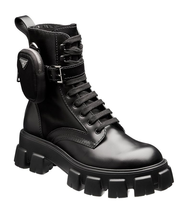 Monolith Leather and Nylon Boots image 0