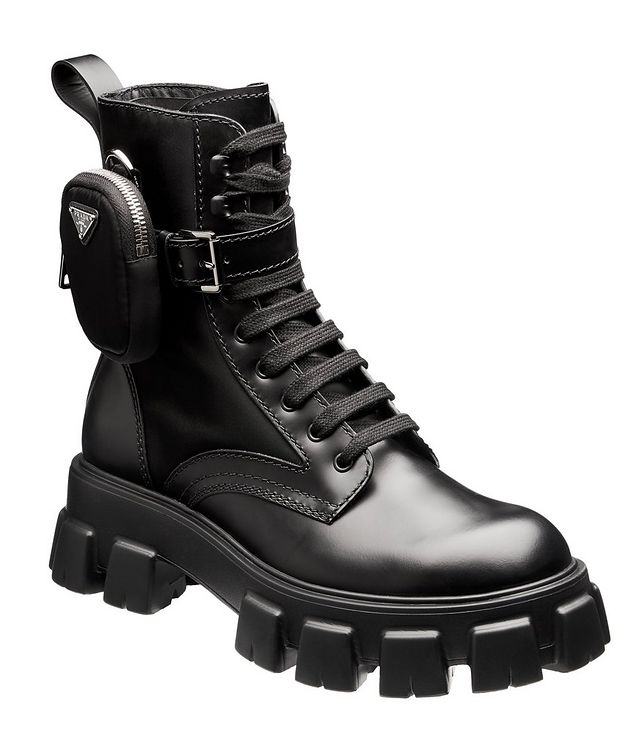 Monolith Leather and Nylon Boots picture 1