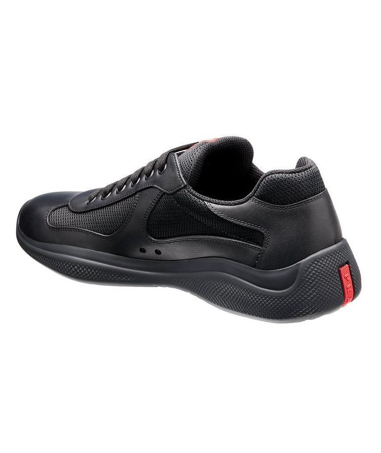 New America'S Cup Leather Bike Sneakers image 1