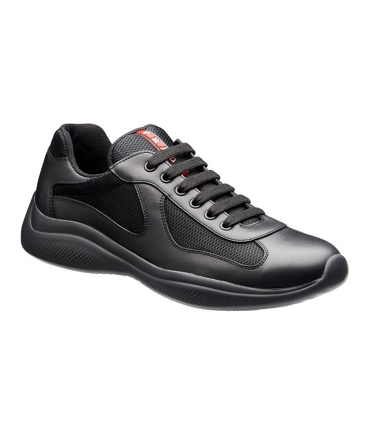 New America'S Cup Leather Bike Sneakers image 0