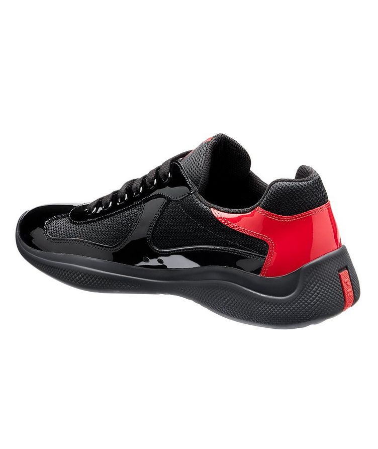 New America'S Cup Patent Leather Bike Sneakers image 1