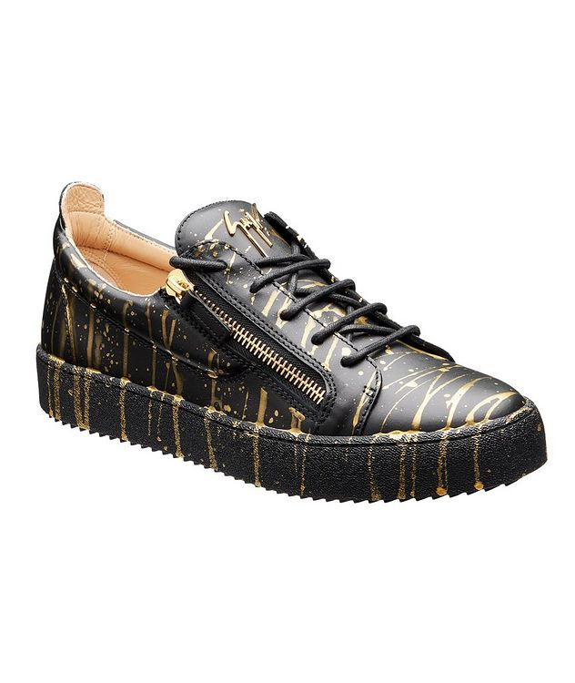 May London Sport T Leather Sneakers picture 1