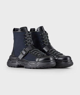 Giorgio Armani Neve Multi-Texture Boots