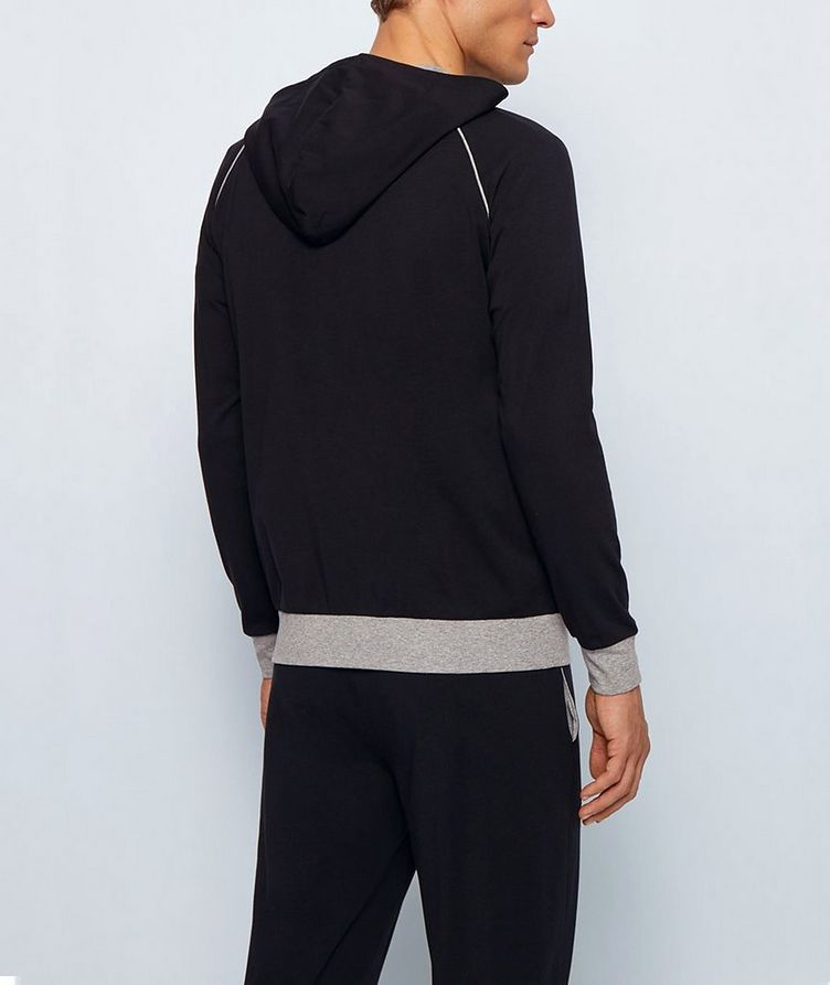 Stretch-Cotton Zip-Up Hoodie image 2