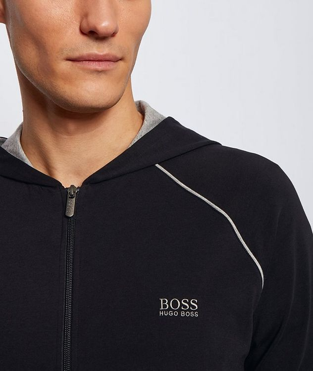 Stretch-Cotton Zip-Up Hoodie picture 5
