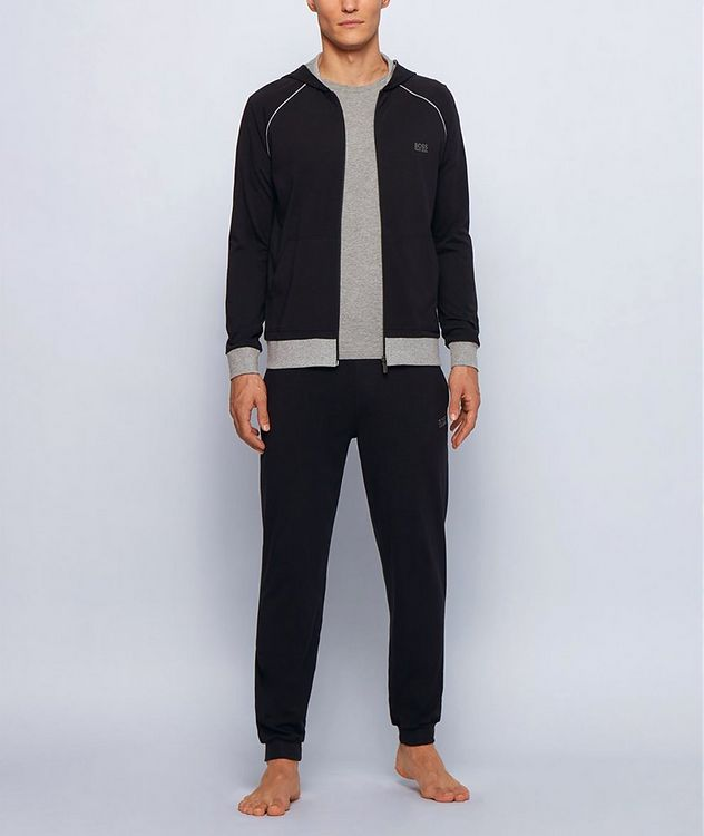 Stretch-Cotton Zip-Up Hoodie picture 6