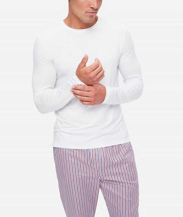 Basel Long-Sleeve Stretch-Micromodal T-Shirt picture 2