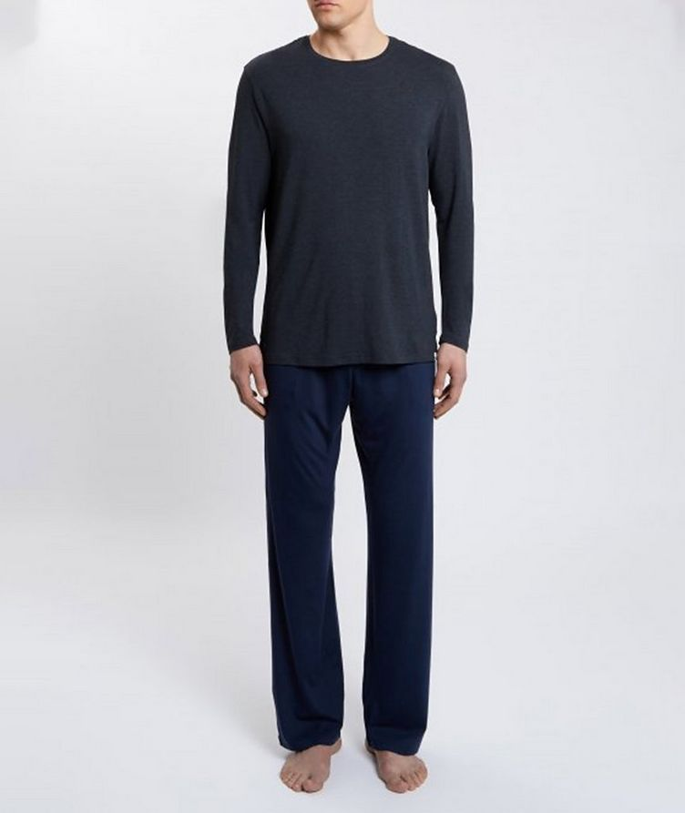 Marlowe Long-Sleeve Stretch-Micromodal T-Shirt image 2