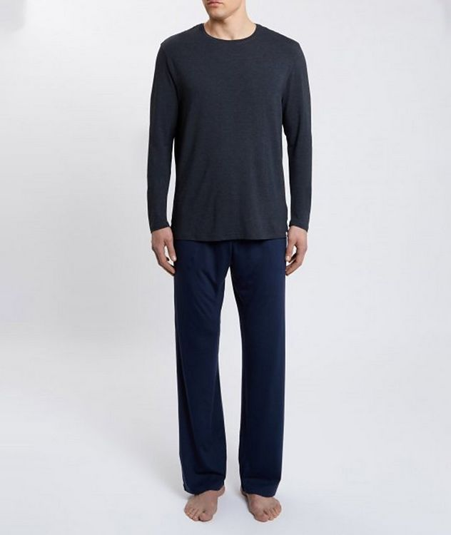 Marlowe Long-Sleeve Stretch-Micromodal T-Shirt picture 3