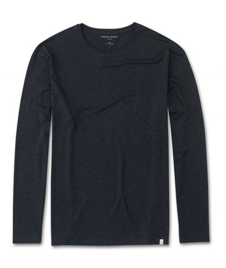 Marlowe Long-Sleeve Stretch-Micromodal T-Shirt image 0