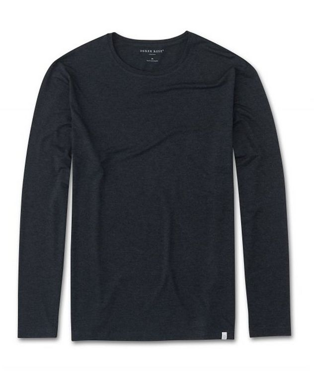 Marlowe Long-Sleeve Stretch-Micromodal T-Shirt picture 1