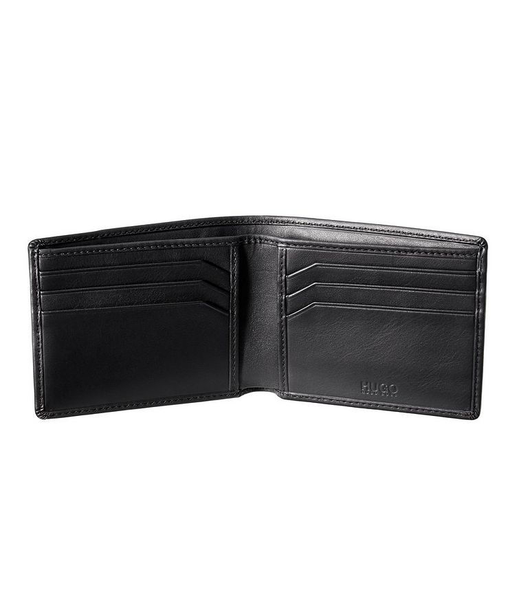 Embossed Leather Bifold Wallet image 1