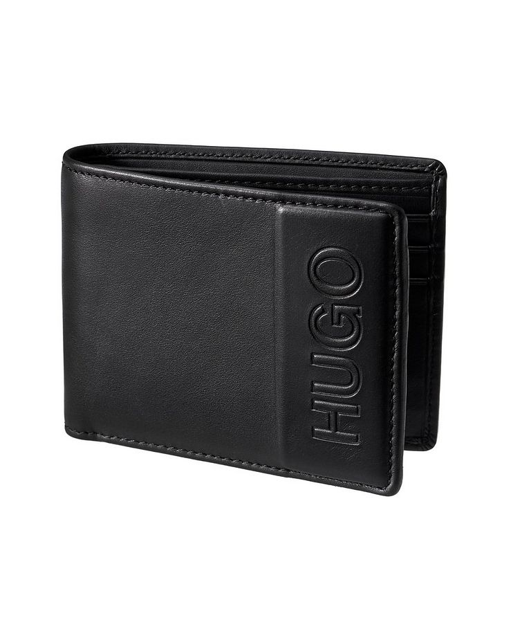 Embossed Leather Bifold Wallet image 0