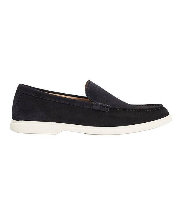Navy Suede Moccasins picture 2