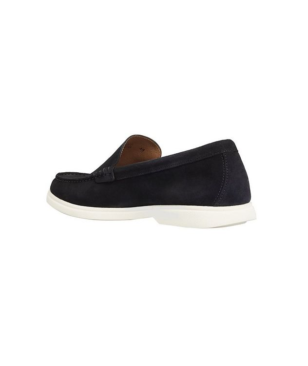 Navy Suede Moccasins picture 3