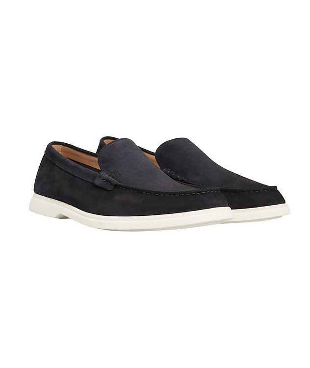 Navy Suede Moccasins picture 1