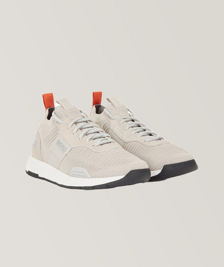 Titanium Knit Sneakers image 1