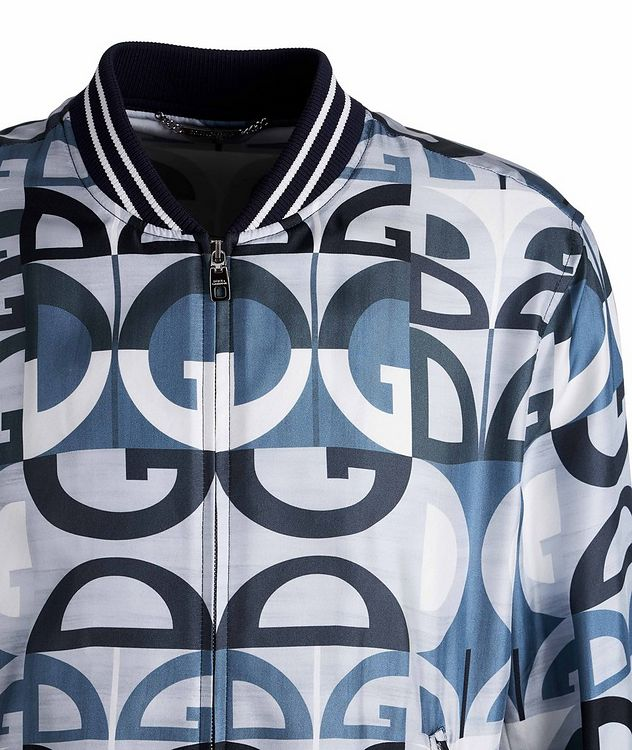 Silk Printed Bomber Jacket picture 3