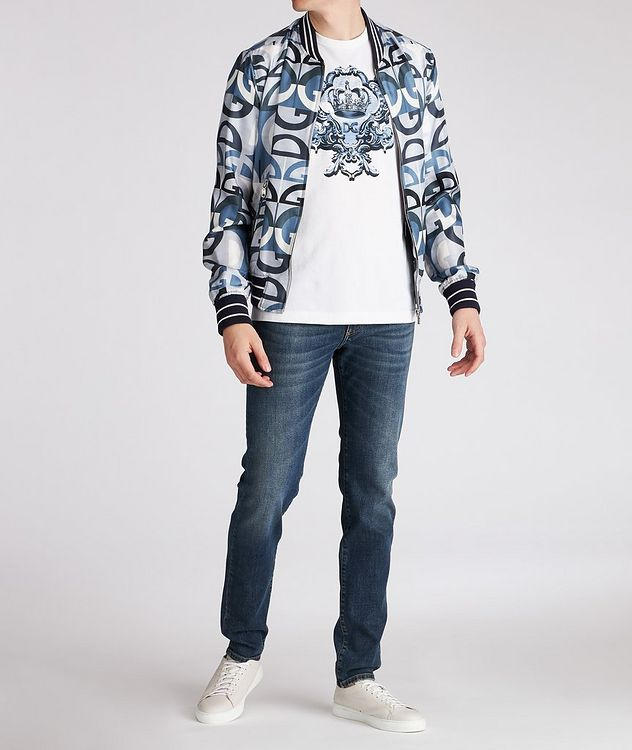 Silk Printed Bomber Jacket picture 5