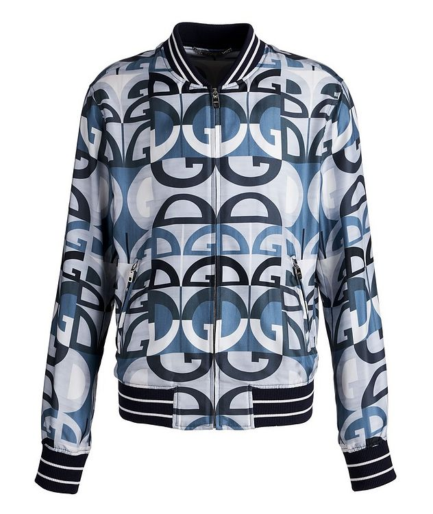 Silk Printed Bomber Jacket picture 1