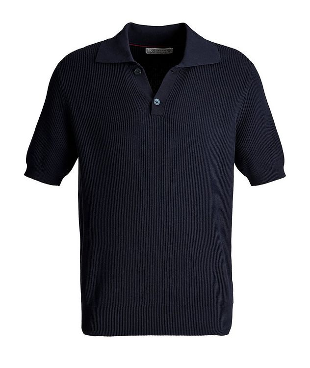 Ribbed Knit Polo picture 1