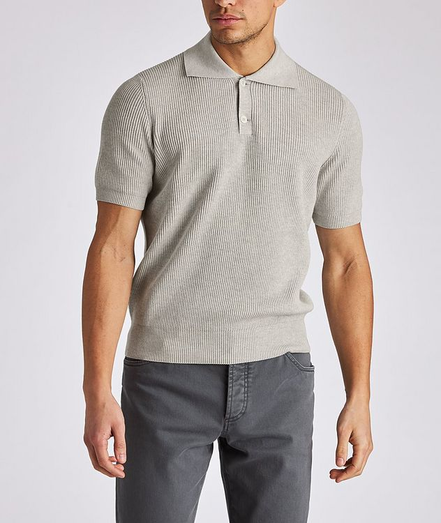 Ribbed Knit Polo picture 2