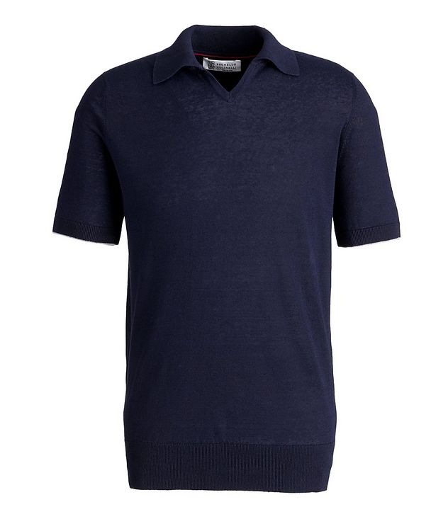 Knit Linen-Cotton Polo picture 1