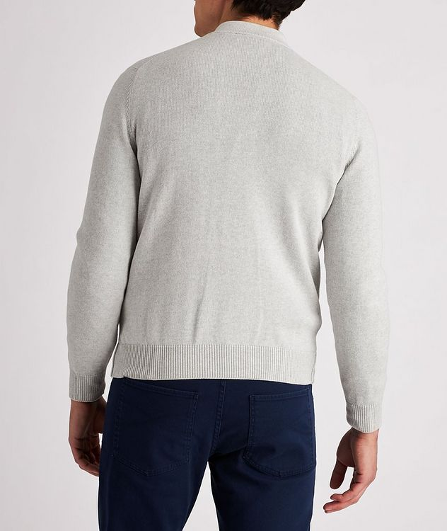 Knit Cotton Zip-Up Cardigan picture 3