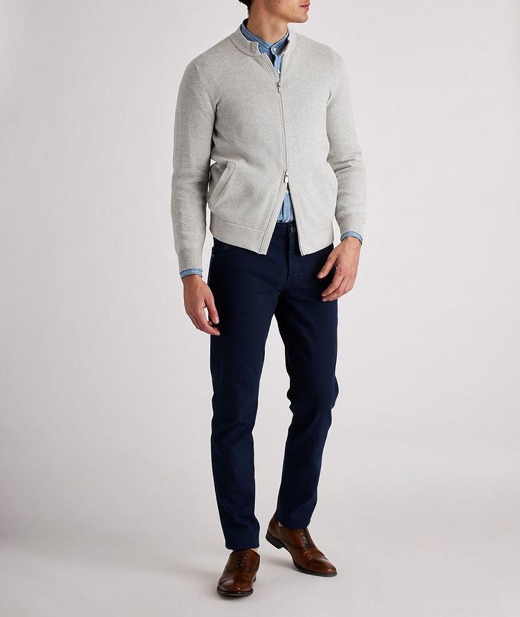 Knit Cotton Zip-Up Cardigan image 4