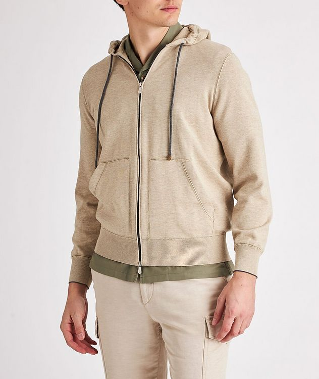 Knit Cotton Zip-Up Hoodie picture 2