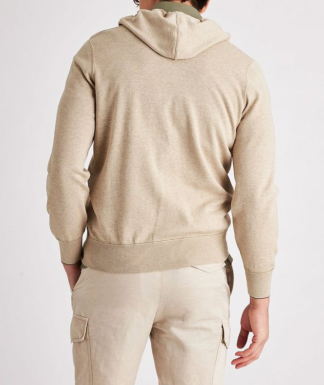 Knit Cotton Zip-Up Hoodie picture 3