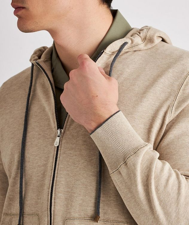 Knit Cotton Zip-Up Hoodie picture 4