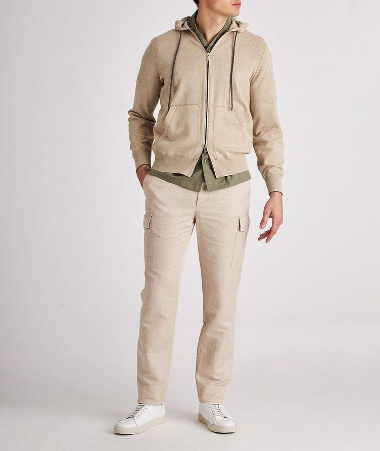 Knit Cotton Zip-Up Hoodie image 4