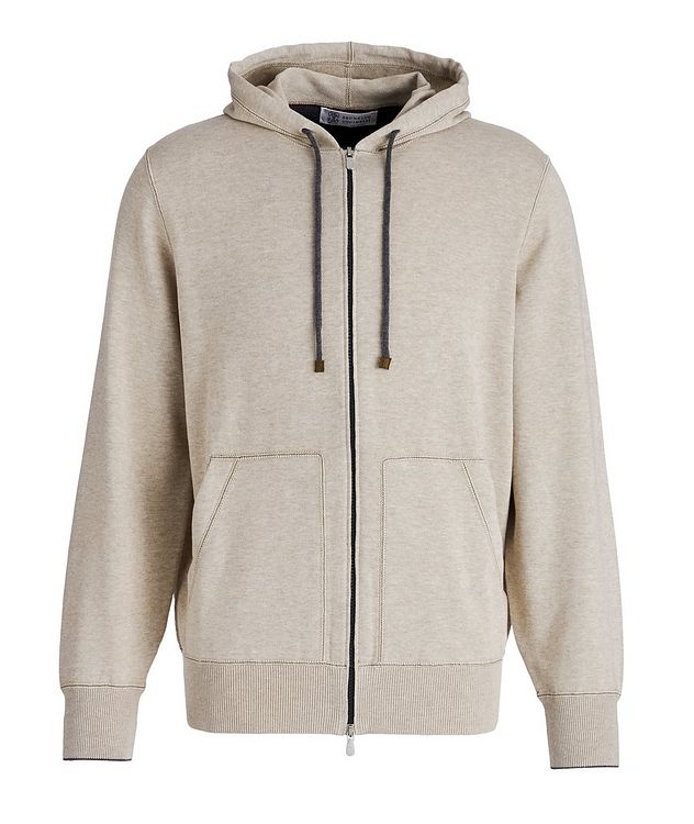 Knit Cotton Zip-Up Hoodie picture 1
